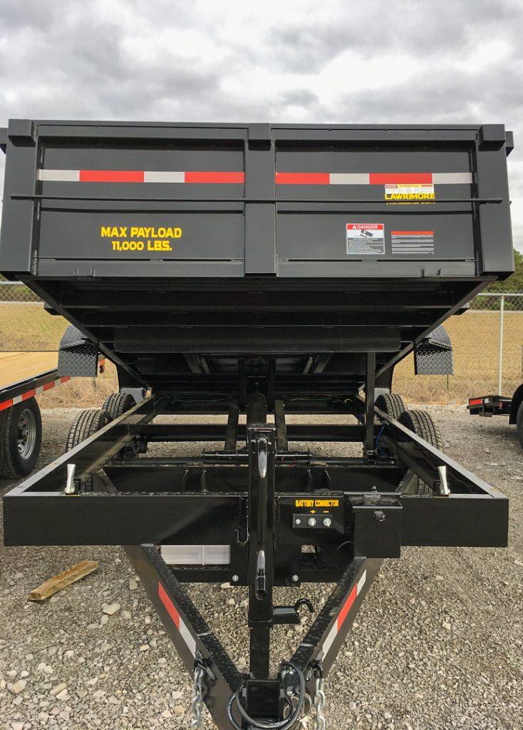 hydraulic dump trailer front