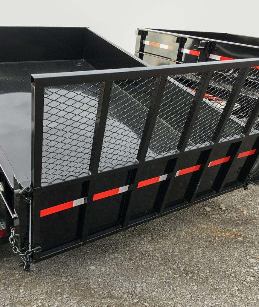 hydraulic dump trailer with rear gate