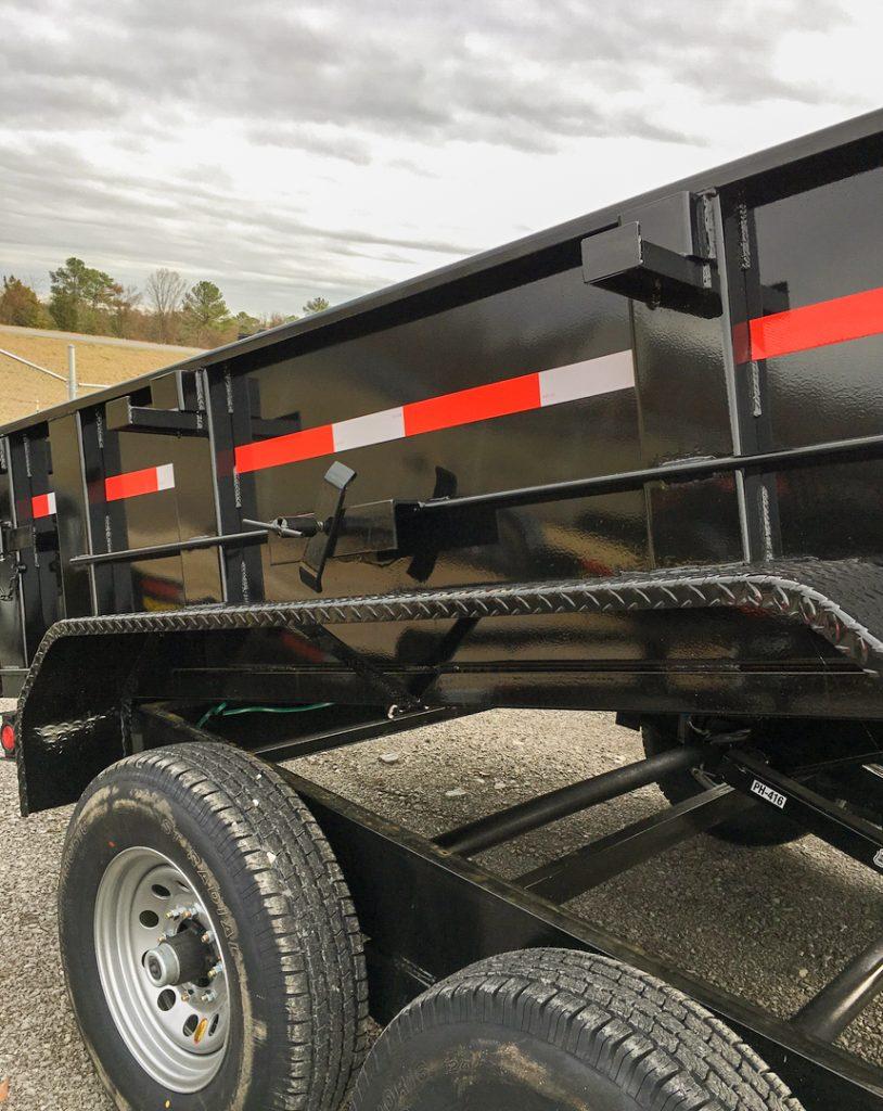 hydraulic lift dump trailer